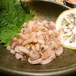 博多もつ鍋 おおやま - ゆず香るイカの塩辛