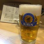 とり満 - 生ビール
