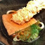 本町製麺所 本店 - 選べる丼ぶりセットの竹天きつねうどん