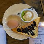 珈琲 庵 - 今週のトースト(チョコレートトースト)