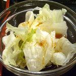 四川料理 福楽 - 「坦坦麺+小ライス」サラダ