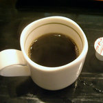 四川料理 福楽 - 「坦坦麺+小ライス」コーヒー