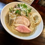 麺座 かたぶつ - 【期間限定】鶏灰湯ラーメン