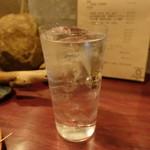 炭火焼鳥コクレ - ☆焼酎水割り(*^_^*)☆