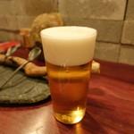 炭火焼鳥コクレ - ☆生ビール(^◇^)☆