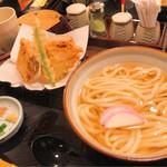 60973158 - かけうどん天ぷらセット(鳥天)
