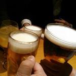 南部鉄酒場 豚バルBYO - ビールで乾杯!!