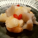 礼華 青鸞居 - 白い根菜と海老の塩炒め 柚子風味