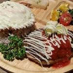 さんるー食堂 - 料理写真:チーズインハンバーグのロコモコ1,080円