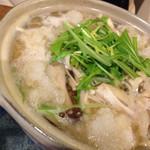 美糸 - きのこと水菜のハリハリみぞれ鍋焼おうどん