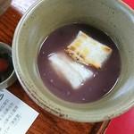 赤福 - おぜんざいは焼きたてのお餅がふた切れ(*^^*)