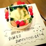 60983539 - ケーキに写真をプリントしていただきました!(モザイク処理してます)
