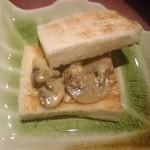 60983918 - 広島県産 フィレカツ マッシュルームソースのトースト