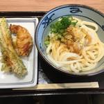 宮武讃岐うどん - 料理写真:生醤油 かしわ ちくわ
