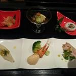 三海の華 - 三海コース(5000円)1.前菜