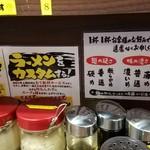横浜家系ラーメン 町田商店33 - 調味料
