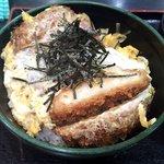 ゆで太郎 - ジャンボかつ丼(アップ)(2016.10)