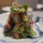 Kappoせな - 料理写真:地蛸ときゅうりの梅肉あえ ズームアップ