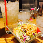 石焼パスタ kiteretsu食堂 - 2017/1/7 ディナーで利用。 サラダセット(サラダ+ライスorバケット+ドリンク)(380円)