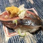第三春美鮨 - 真鰺 73g 瀬付き 定置網漁 兵庫県沼島