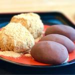 月見茶屋 - 料理写真:長崎名物 お諏訪のぼた餅(餡3個、きなこ2個入り)490円 とても丁寧に手作りされています。少し小ぶりで食べやすく、甘過ぎずオススメです。