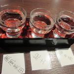 61007780 - 日本酒飲み比べ