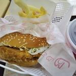 ドムドムハンバーガー - 甘辛チキンバーガーセット