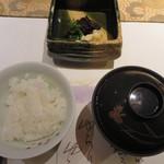 華鳳 - 食事・香の物