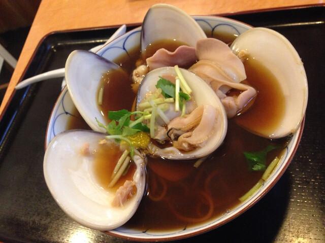 弁天 - はまぐり蕎麦 ¥1,400