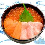 海鮮丼の浦島 - 【いくら・サーモン・中トロ】
