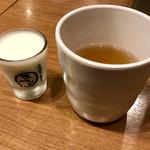 大阪焼肉・ホルモンふたご - お茶とヨーグルト