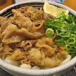麺処 綿谷 - 肉ぶっかけ(温)