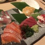 魚や一丁 - 本日のお刺身5点盛り・1680円