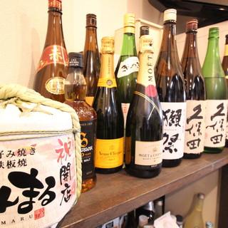日本酒からワインまでお酒の種類も豊富!