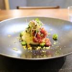 cenci - 料理写真:オクラ、金糸瓜、長芋、茗荷、鮪