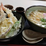 びっくりうどん 三好野 - 天丼定食