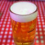 モンティー - 生ビール 札幌麦酒 550円