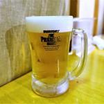 焼肉・塩ホルモン 三ちゃん - ビール