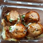 浅野おやき店 - 料理写真:チーズたこ焼き4個 240円