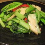 柳華 - 旬の青菜炒めガーリック風味