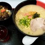 らーめん西海 - らーめん西海@長津田店 ミニ高菜めんたい丼セット