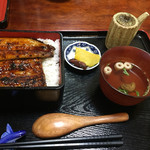 うなぎの緒里 - 2017年1月初旬 特うな重定食 ¥2.400