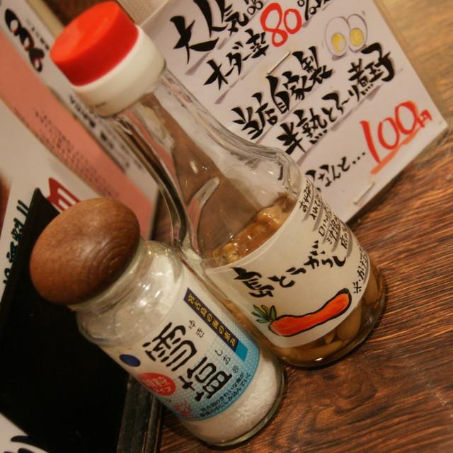 琉球・梅酒ダイニング てぃーだ 上野店 - 島とうがらし&雪塩2017年1月