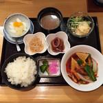 麒麟園 - Aランチ 黒酢酢豚