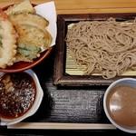 いわもとQ - 【2017/1】ごまだれそば+天ぷらセット