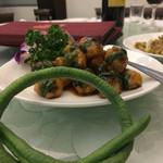人和園雲南菜 - ささげ豆と海老の揚げ団子368元
