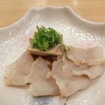 Shokurakusaiensakashou - 萩産 真フグの昆布締め と 鱈の肝