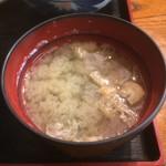 代々木屋 - 丼物に付く味噌汁