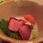 地鶏炭火焼・旬魚 あべの家 - 新鮮な刺身