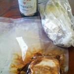 ビストロ ボングー - ポタージュ、赤ワイン煮、パン、スパークリングワイン